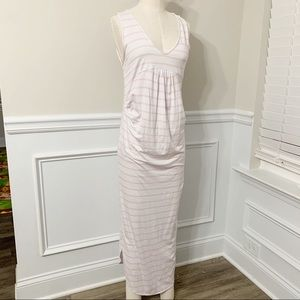 FillyBoo maternity striped sleeveless maxi dress